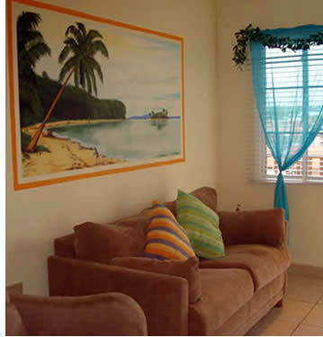 Living Room at Bocas Island Condos